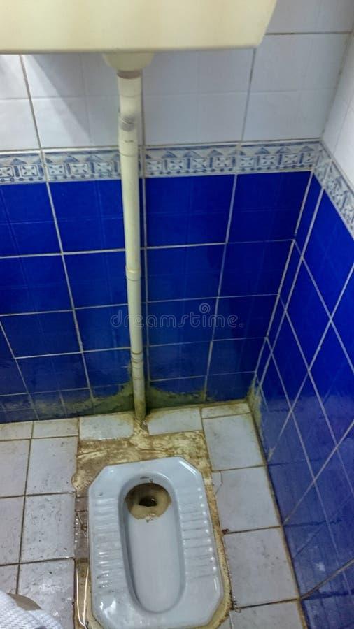 Arabische digusting Toilette lizenzfreie stockfotos