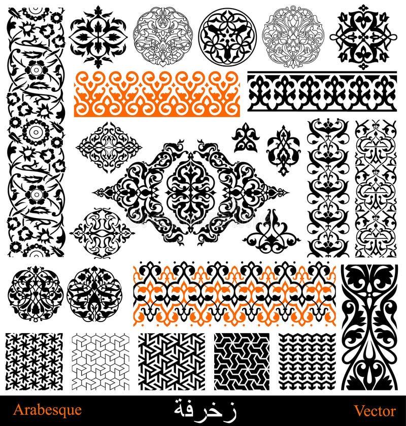 Arabische en Perzische elementen vector illustratie