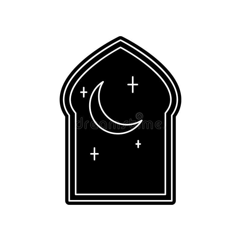 arabische Fensterikone Element von arabischem f?r bewegliches Konzept und Netz Appsikone Glyph, flache Ikone f?r Websiteentwurf u stock abbildung