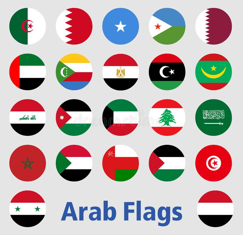 Arabische Flaggen lizenzfreies stockfoto