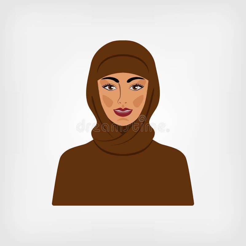 Arabische Frau in der traditionellen Kleidung vektor abbildung