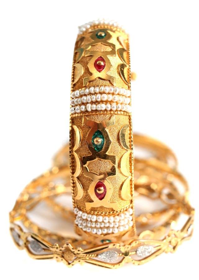 Arabische gouden verticale juwelen, stock fotografie