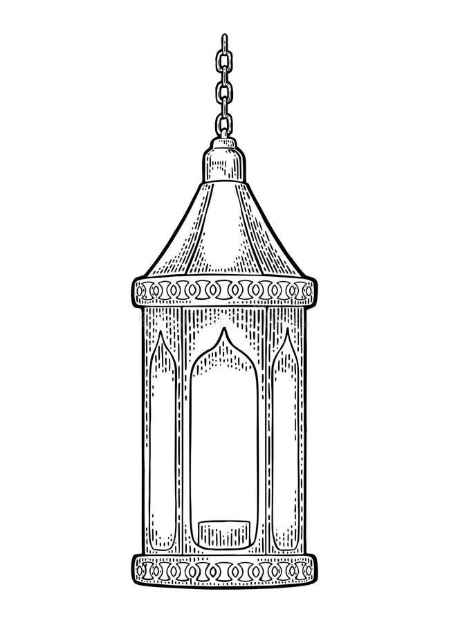 Arabische hangende lamp met ketting Voor afficheramadan kareem