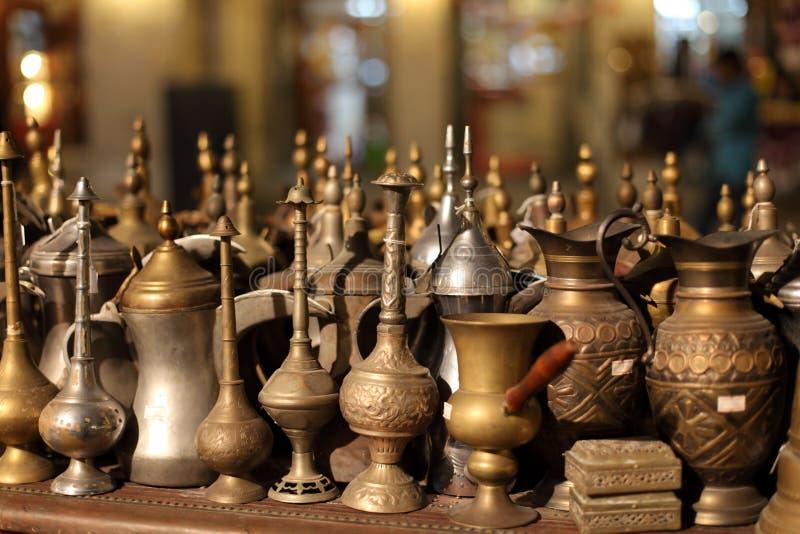 Arabische herinneringen in Doha royalty-vrije stock foto's