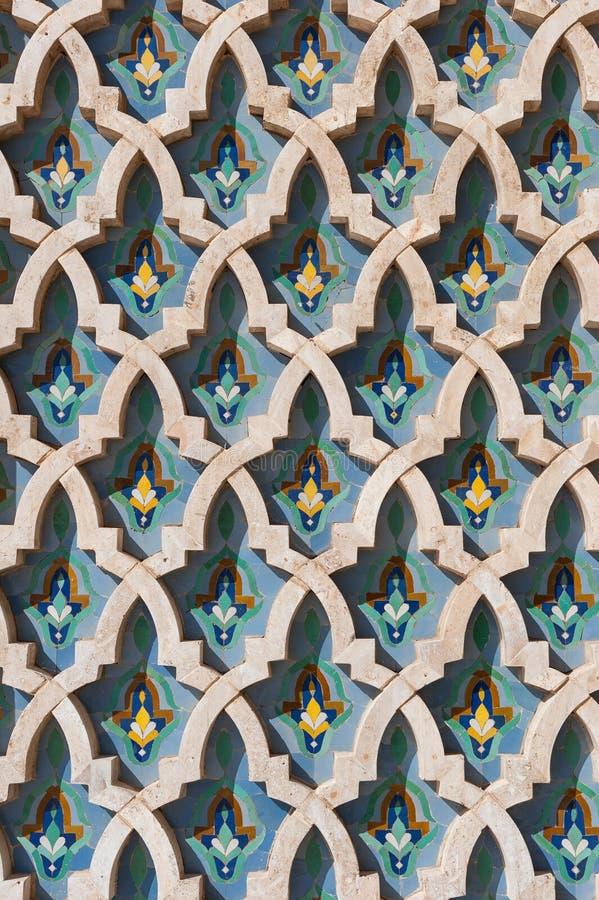 Arabische islam muurtextuur Casablanca Marokko royalty-vrije stock afbeeldingen