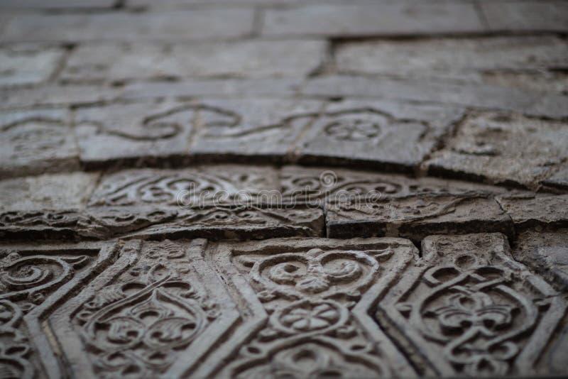 Arabische Islamitische Textuurachtergrond in Egypte royalty-vrije stock fotografie