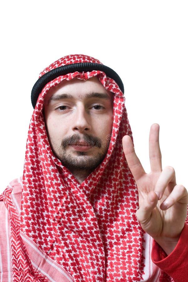 Arabische jonge mens stock foto