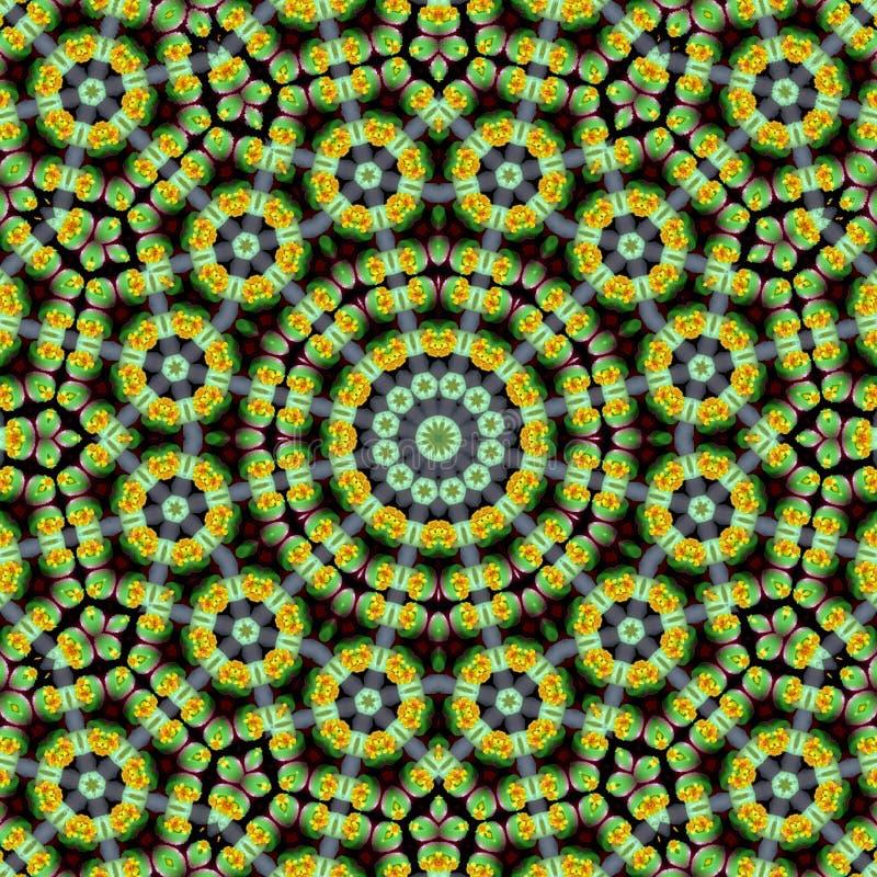 Arabische Karte der Weinlese mit bunter Mandala Boho-Blumen-Muster Festliches buntes Mandalamuster Textilverzierung lizenzfreie abbildung