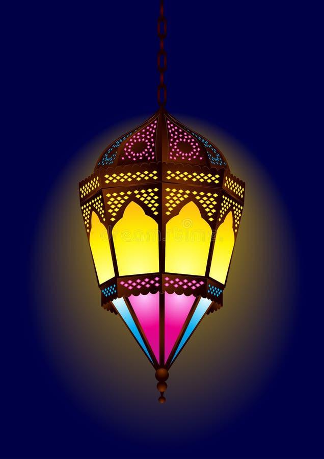 Arabische Lampe der alten Art für ramadan/eid stock abbildung