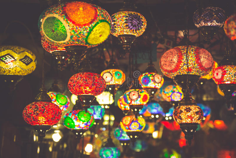 arabische lampen en lantaarns in marrakech marokko stock afbeelding afbeelding bestaande uit. Black Bedroom Furniture Sets. Home Design Ideas