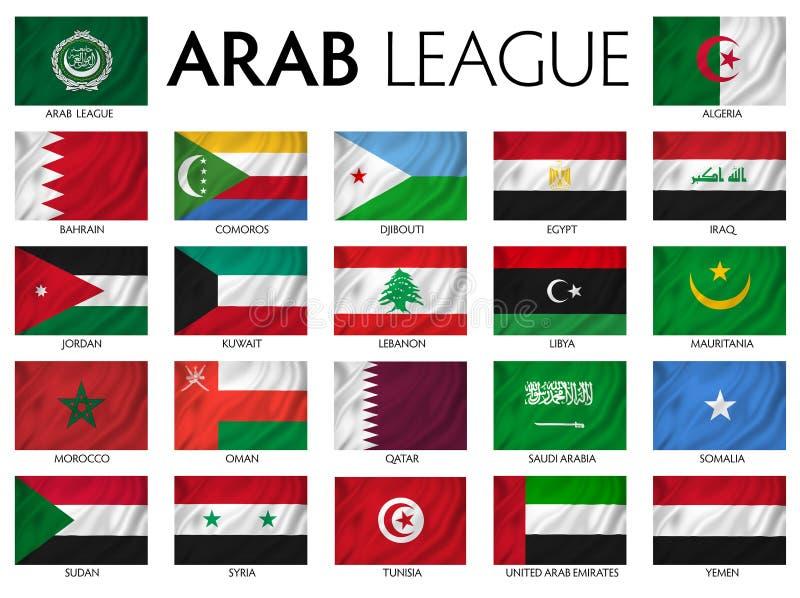 Arabische Liga stock illustratie