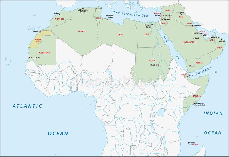 Arabische ligakaart vector illustratie