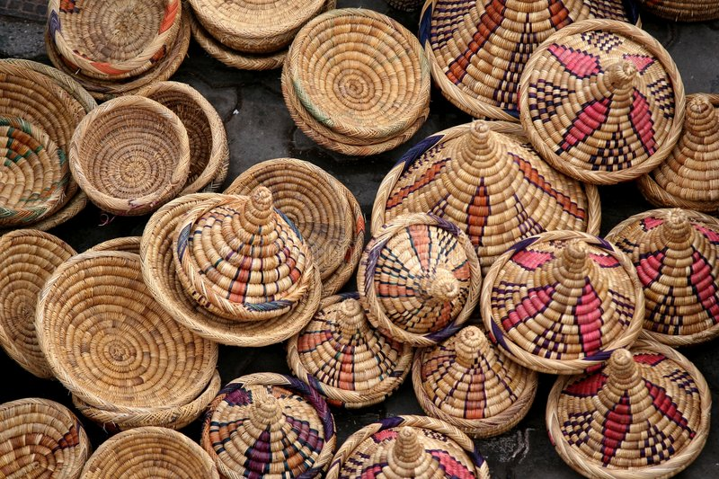 Arabische markt stock afbeeldingen