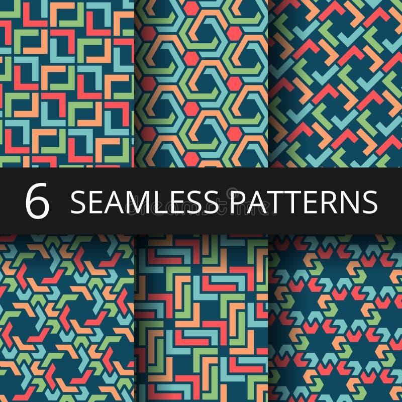 Arabische Marokkaanse kleuren naadloze patronen De oostelijke decoratie herhaalt vectorachtergronden vector illustratie