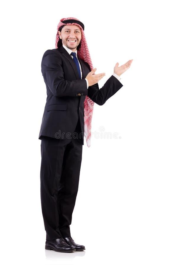 Arabische mens in positief concept royalty-vrije stock afbeeldingen