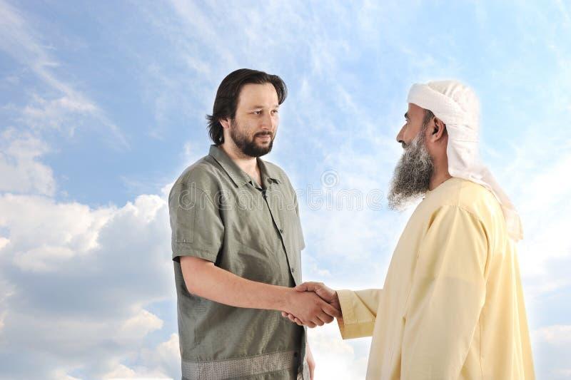 Arabische moslemische Geschäftsmannperson stockbild