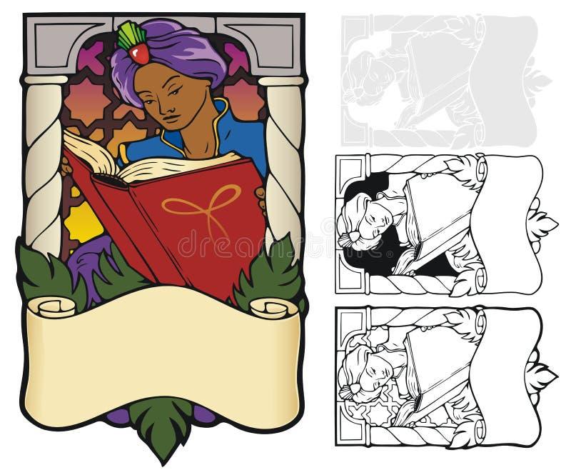 Arabische Nachten Bookplate royalty-vrije illustratie