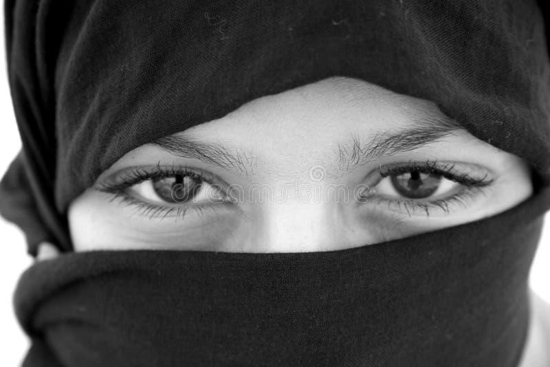 Arabische ogen stock foto's