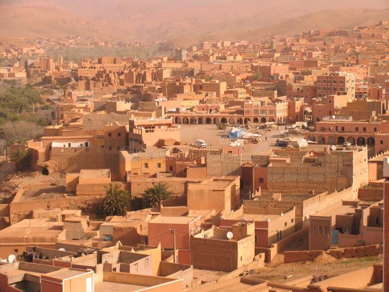 Arabische stad stock foto