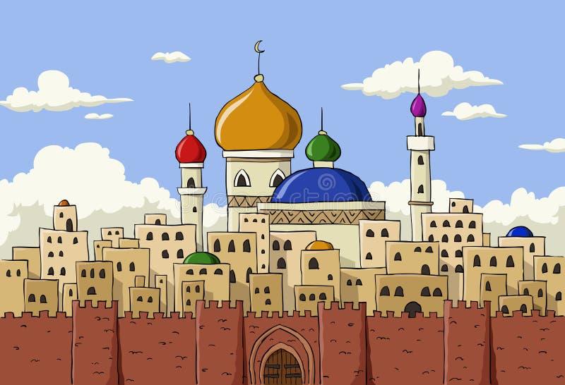 Arabische Stadt lizenzfreie abbildung
