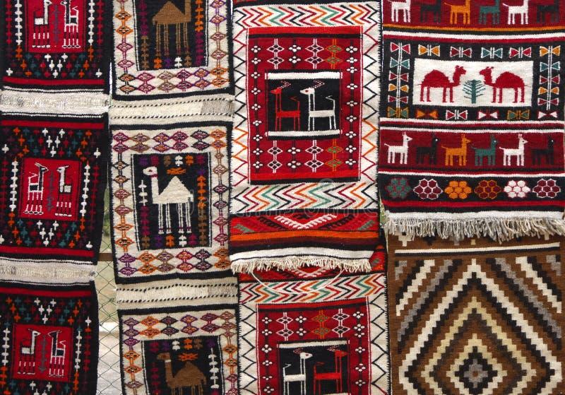 Arabische tapijten stock afbeelding