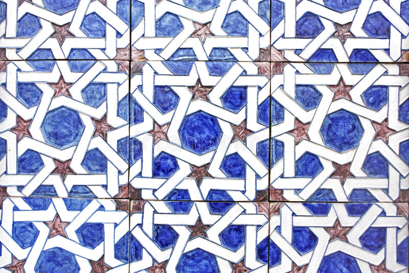 Arabische tegels, Andalusia, Spanje stock afbeelding