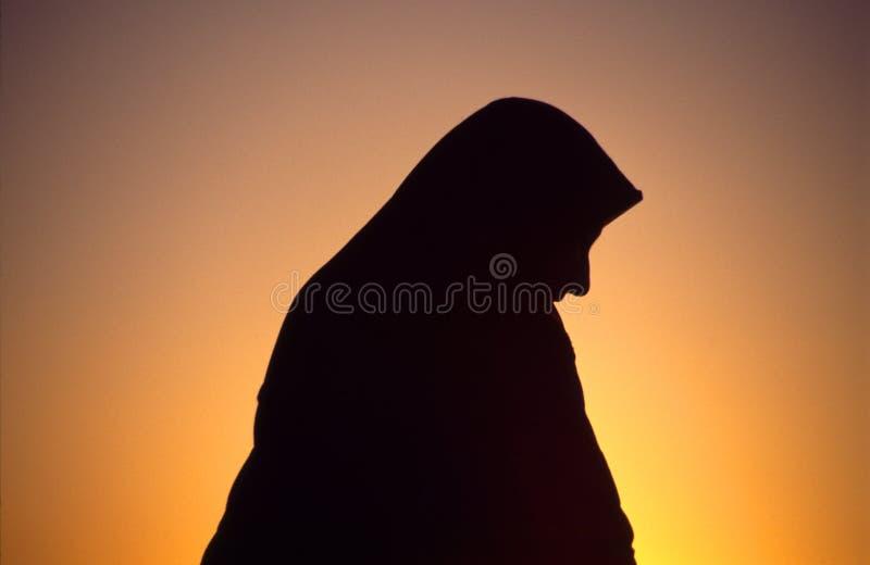 Arabische vrouw met sluier royalty-vrije stock foto