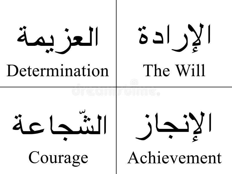 Arabische Wörter lizenzfreie abbildung