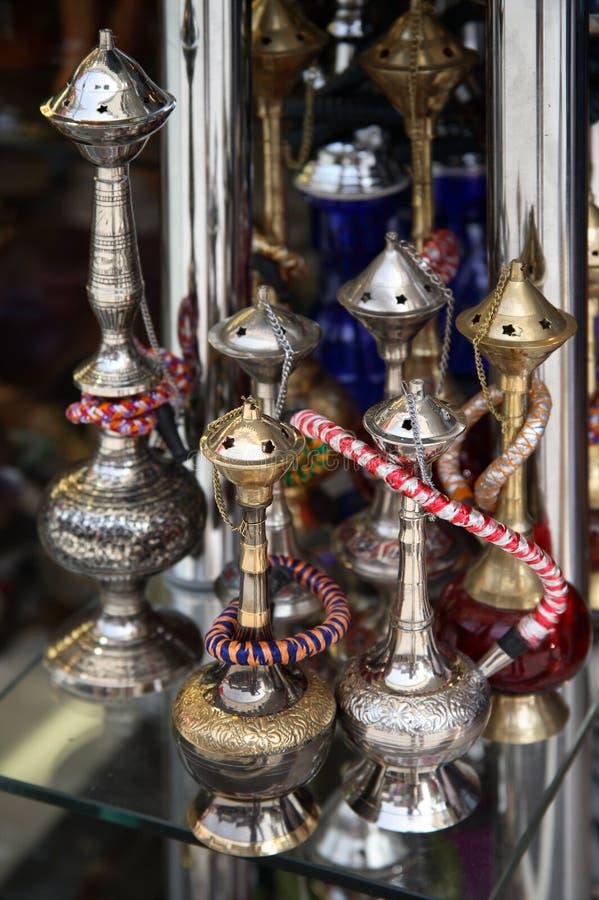 Arabische waterpijpen stock afbeelding