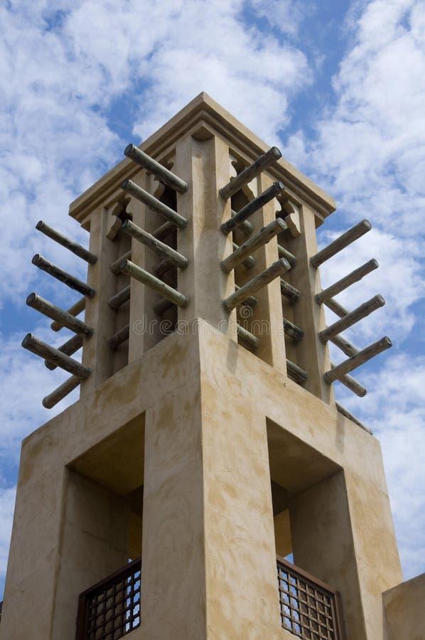 Arabische windtoren royalty-vrije stock afbeeldingen
