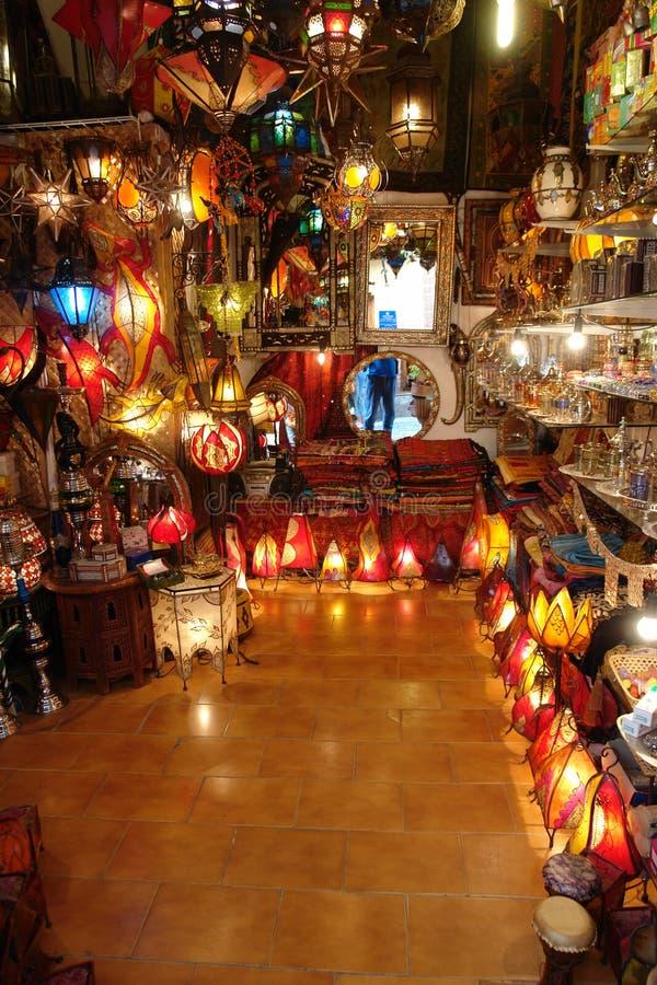 Arabische winkel stock afbeelding