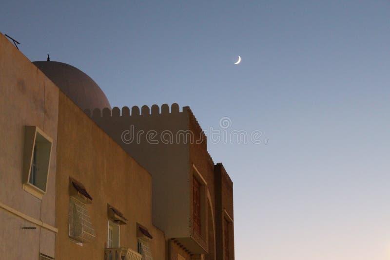 Arabische Zonsondergang royalty-vrije stock foto's