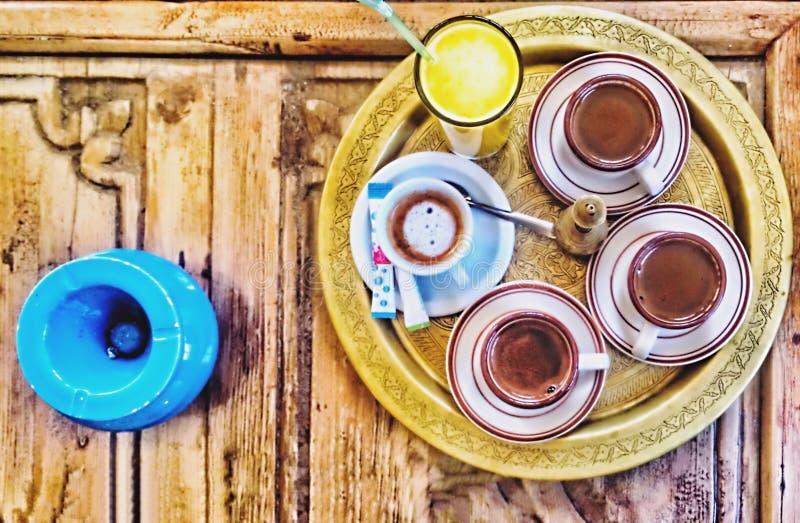 Arabischer Kaffee lizenzfreie stockfotografie