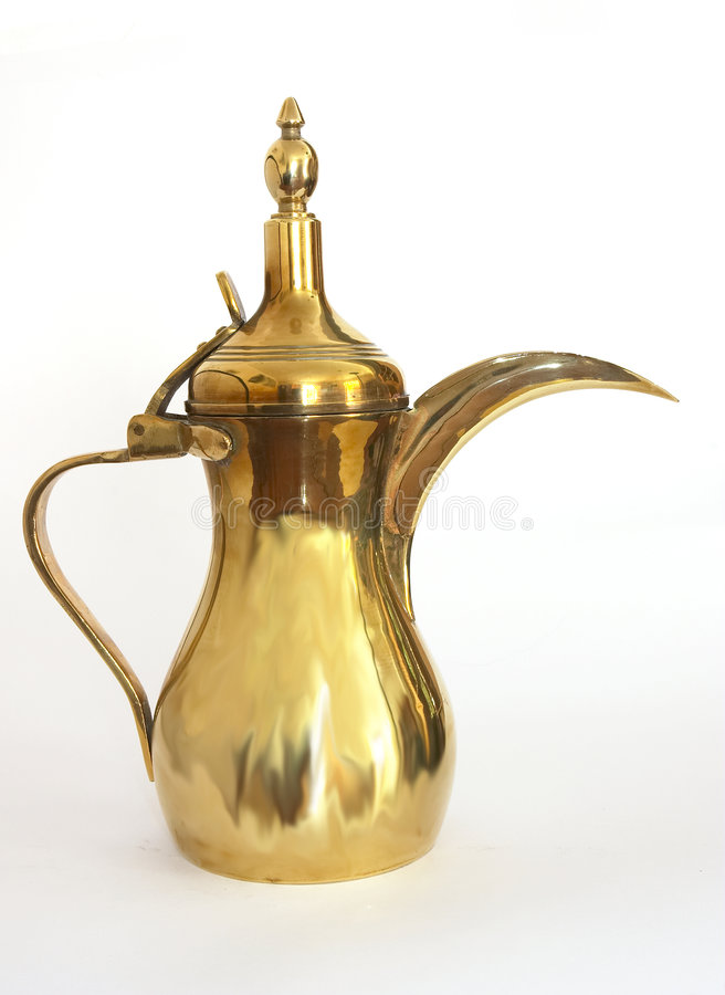 Arabischer Kaffepotentiometer stockbilder