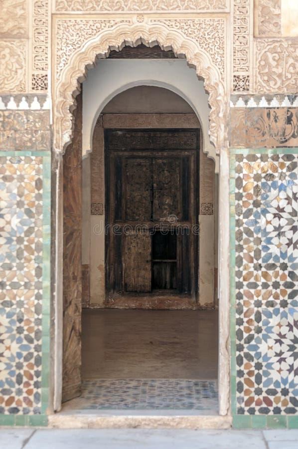 Arabischer Palast Ben Youssef lizenzfreie stockfotos