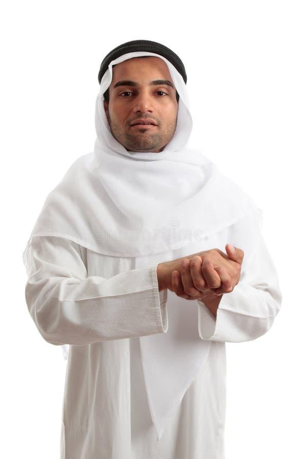 Arabischer saudischer Mann lizenzfreie stockfotografie