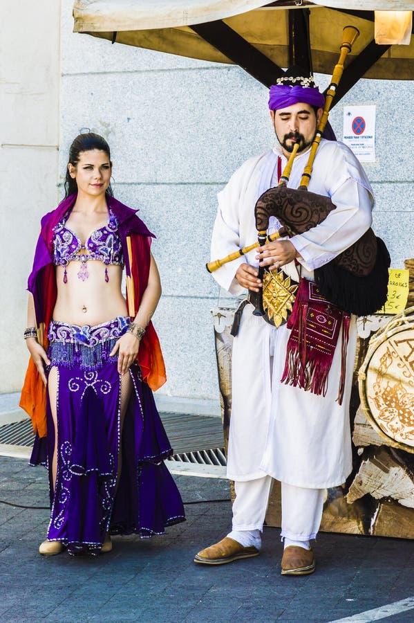Arabischer Tänzer in Toledo lizenzfreies stockfoto