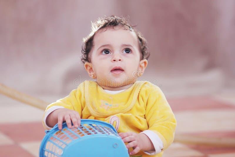 Arabisches afrikanisches Baby lizenzfreies stockbild