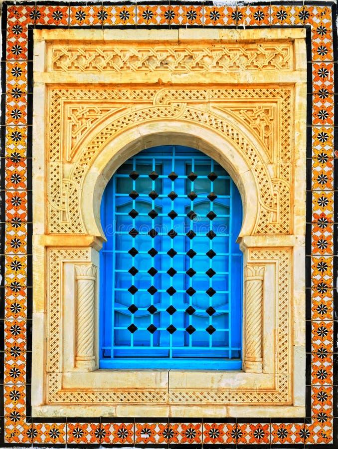 Arabisches Arthausfenster lizenzfreie stockfotografie