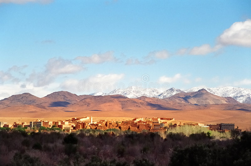 Arabisches Dorf lizenzfreies stockbild