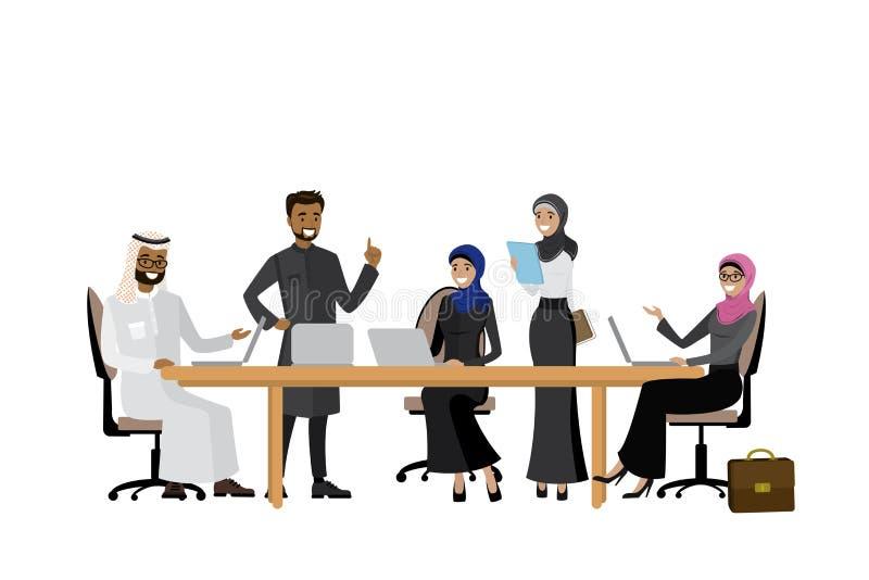 Arabisches Geschäftsteam oder Coworking, vektor abbildung