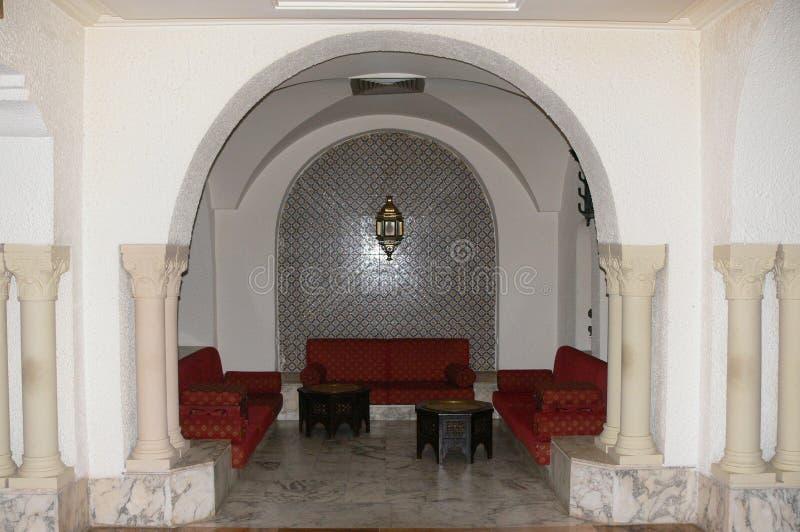 Arabisches Innencafé lizenzfreie stockfotografie