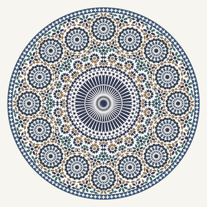 Arabisches Kreismuster lizenzfreie abbildung
