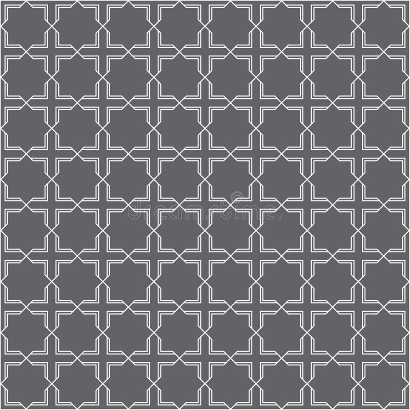 Arabisches Muster mit doppelter Linie stockfotos