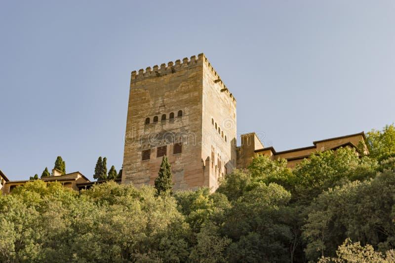 Arabisches Stadterbe Granadas Albaicin Alhambra von Menschlichkeit und von seiner stockbild