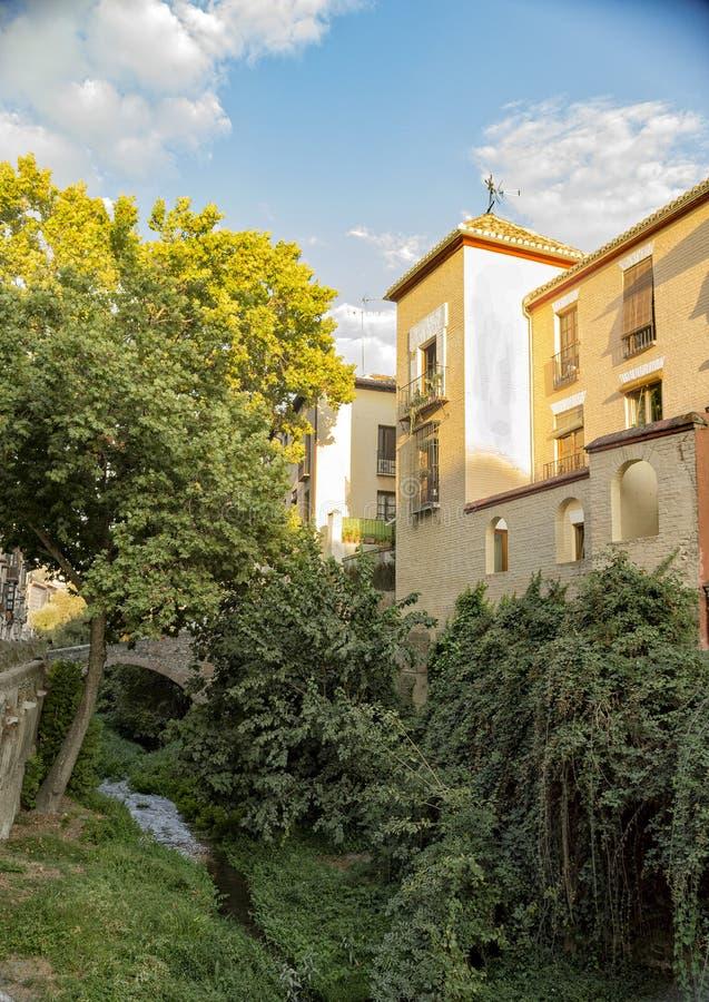 Arabisches Stadterbe Granadas Albaicin Alhambra von Menschlichkeit und von seiner stockbilder