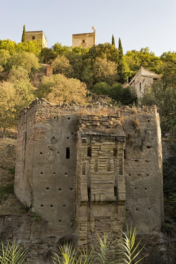 Arabisches Stadterbe Granadas Albaicin Alhambra von Menschlichkeit und von seiner lizenzfreie stockfotografie