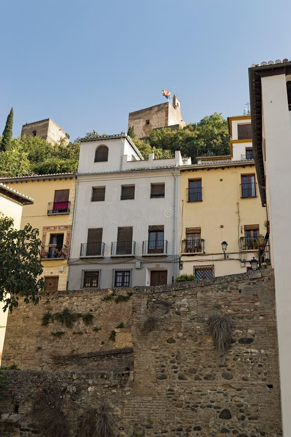 Arabisches Stadterbe Granadas Albaicin Alhambra von Menschlichkeit und von seiner lizenzfreies stockfoto