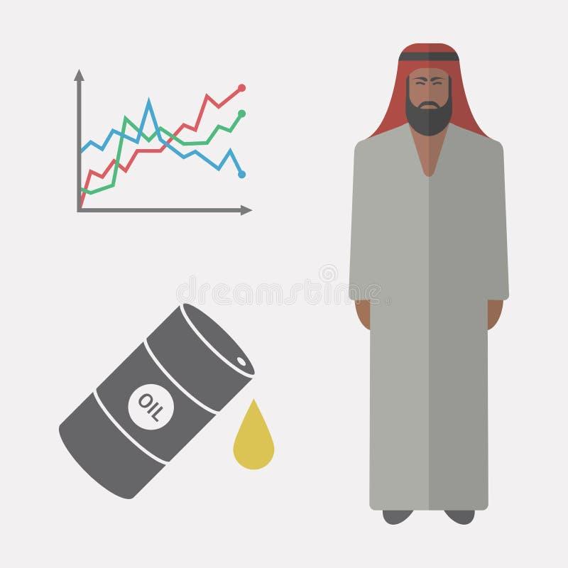 arabisk affärsman vektor illustrationer