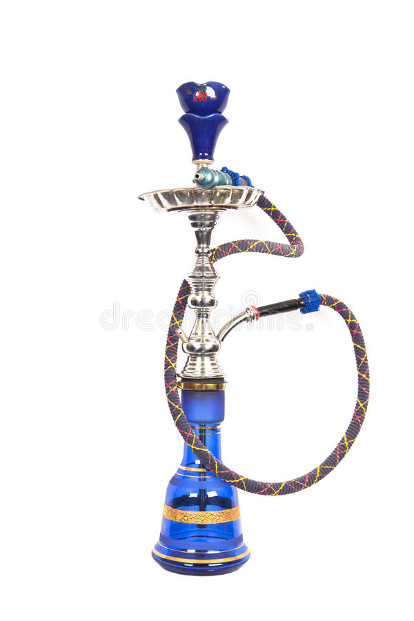 arabisk blå silverwaterpipe arkivbild
